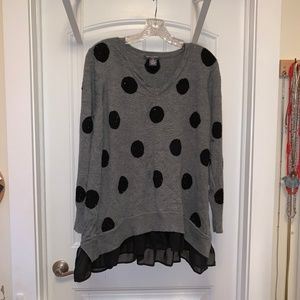 Chelsea & Theodore gray sequined sweater 1X